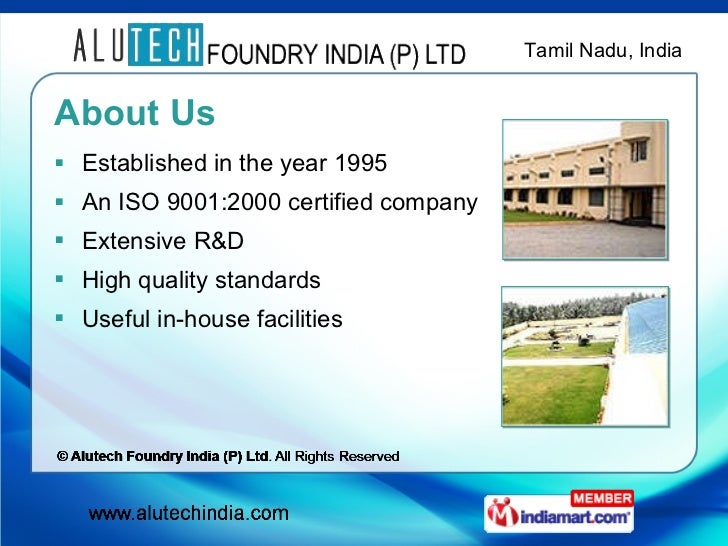 Alutech Foundry India PLtd All Rights Reserved Tamilnadu IndiaLtd …