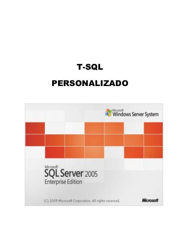 T-SQL PERSONALIZADO