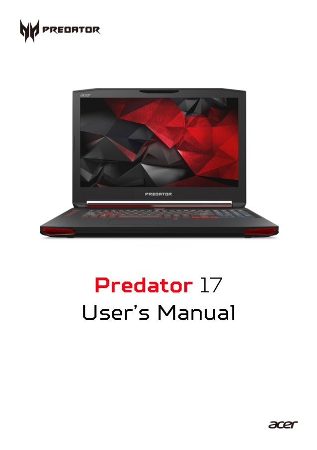 - 1 Predator 17 User's Manual