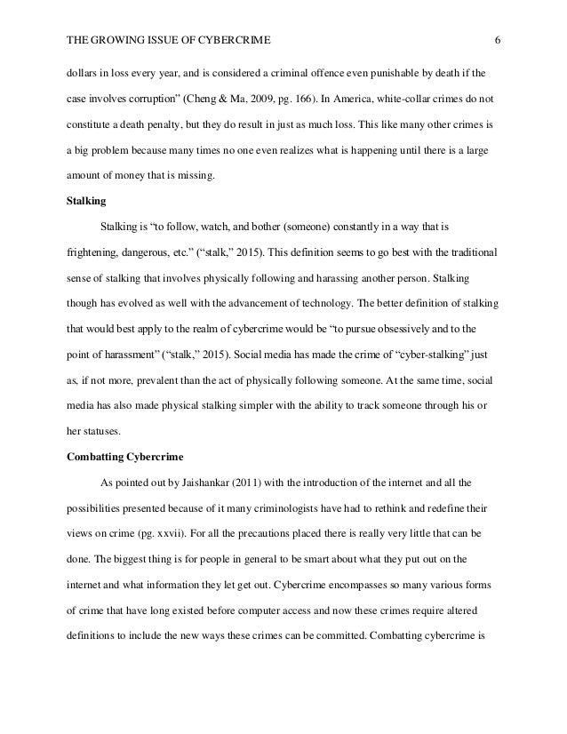 Thesis Statement Example For Essays  White Collar Crime That Causes Billions Of  Sample Essays For High School also My School Essay In English Cybercrime Research Paper How To Write An Essay With A Thesis