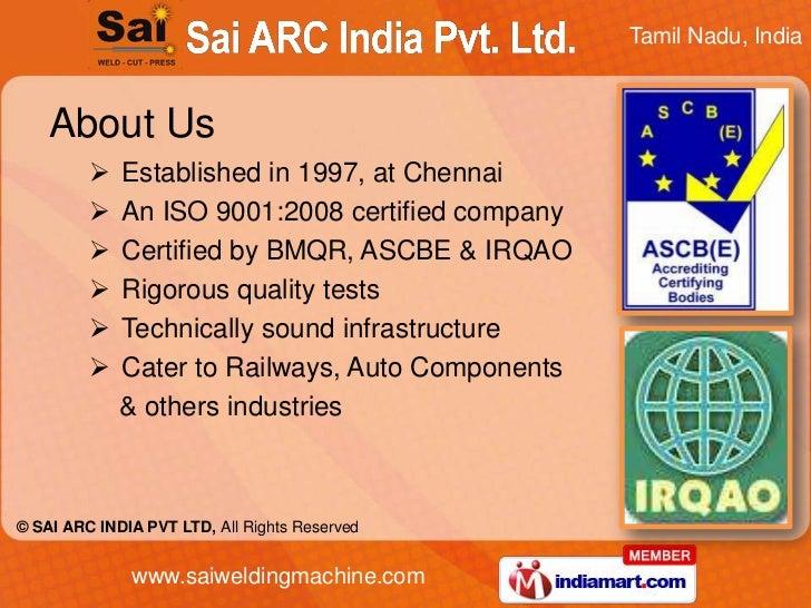 MIG by Sai A. R. C. India Pvt Ltd Chennai Slide 2