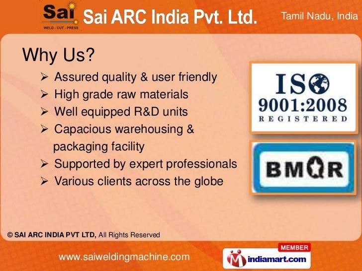 MIG by Sai A. R. C. India Pvt Ltd Chennai Slide 3