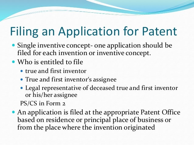 Training Session: 1 Indian Patent Process: Study of Forms