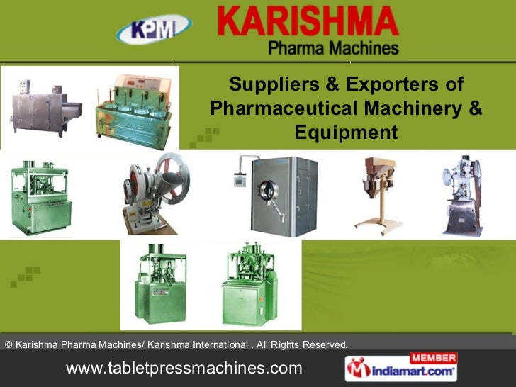 Suppliers & Exporters of Pharmaceutical Machinery & Equipment
