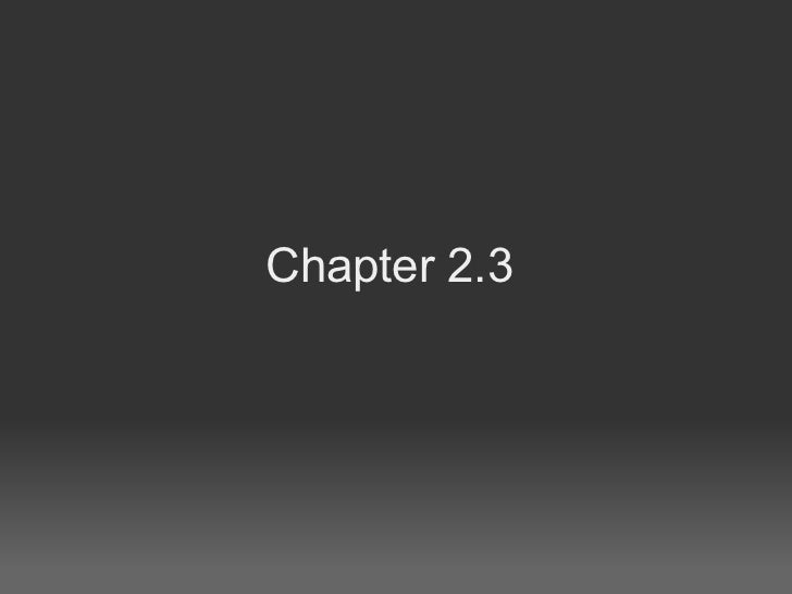 Chapter 2.3