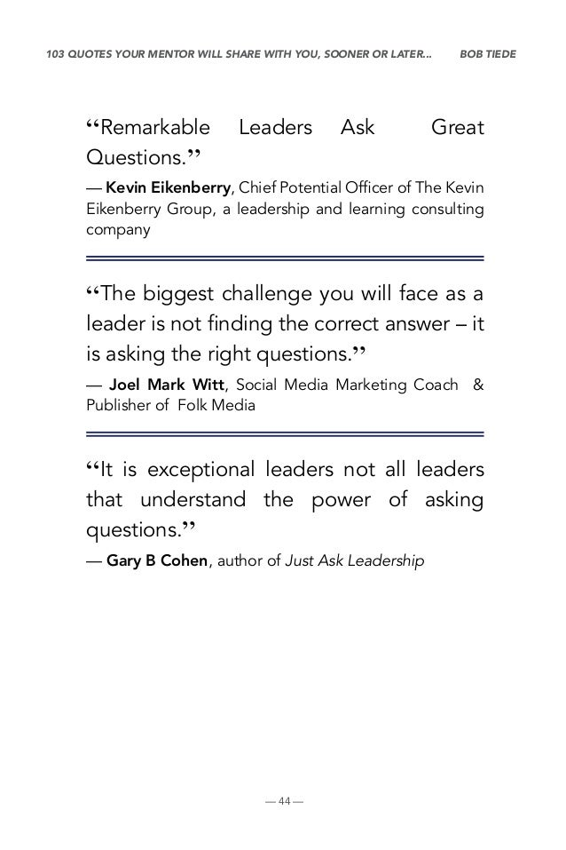 103 Quotes On Questions