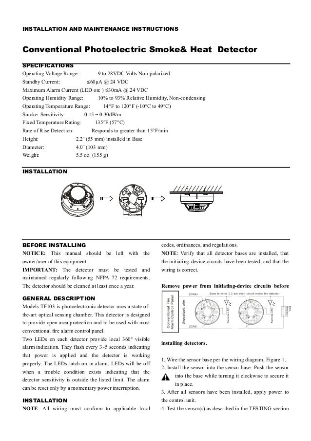 Heat Detector Wiring Diagram - Wiring Diagram Directory on