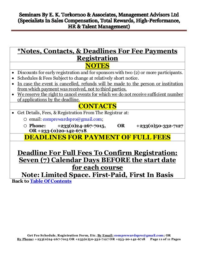 Get Fee Schedule, Registration Form, Etc. By Email: comprewardspro@gmail.com; OR By Phone: +233(0)24-267-7015 OR +233(0)50...