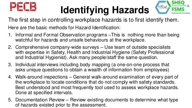 hazards in the workplace essay Introduction this health and safety booklet will help you keep safe in the office on your work experience trip to france you will need to know all the.