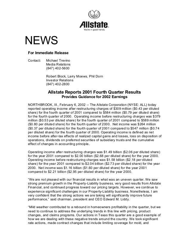 NEWS For Immediate Release Contact: Michael Trevino Media Relations (847) 402-5600 Robert Block, Larry Moews, Phil Dorn In...