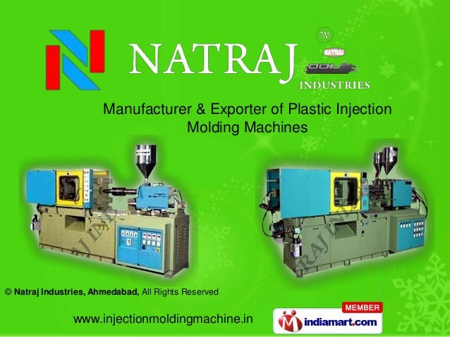 Manufacturer & Exporter of Plastic Injection                                  Molding Machines© Natraj Industries, Ahmedab...