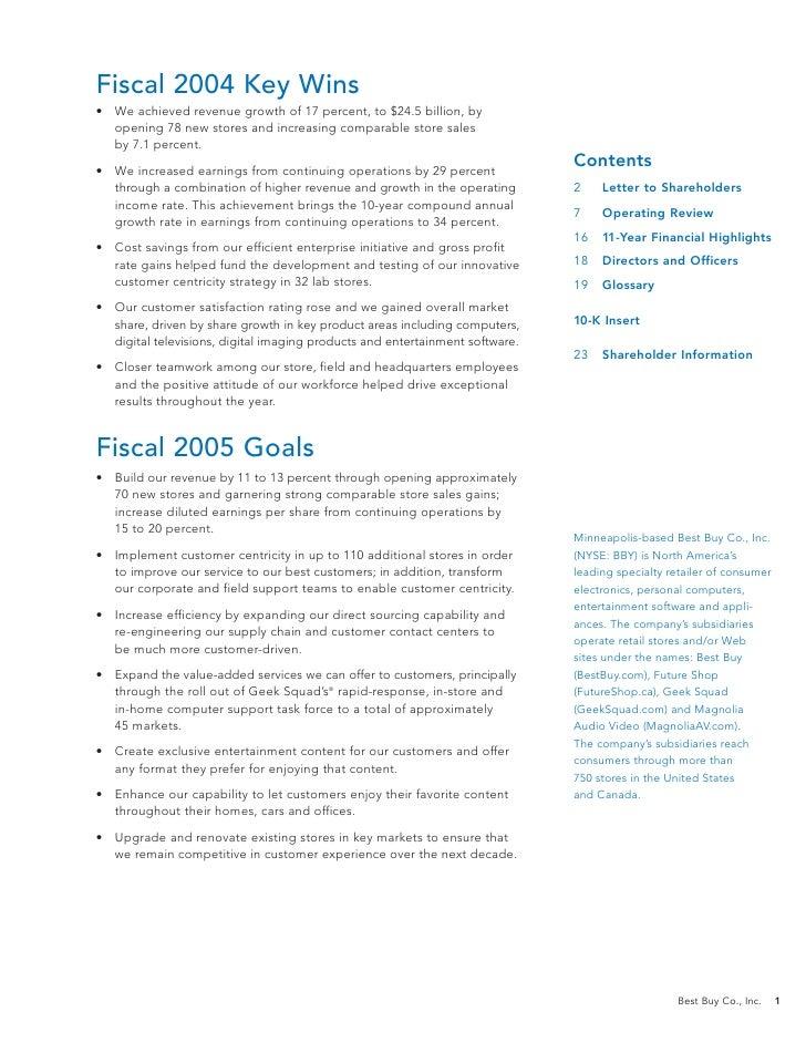 best buy annual report