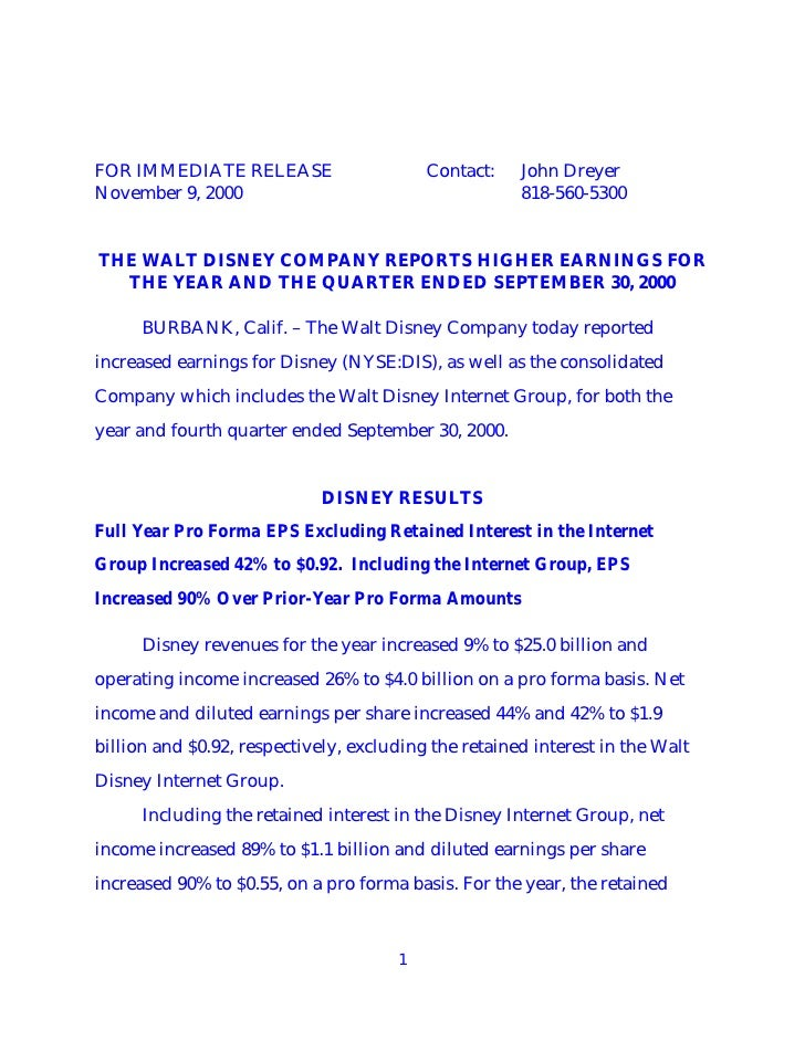 FOR IMMEDIATE RELEASE                     Contact:    John Dreyer November 9, 2000                                      81...