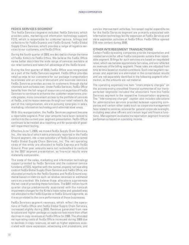 fedex Annual Reports 2008