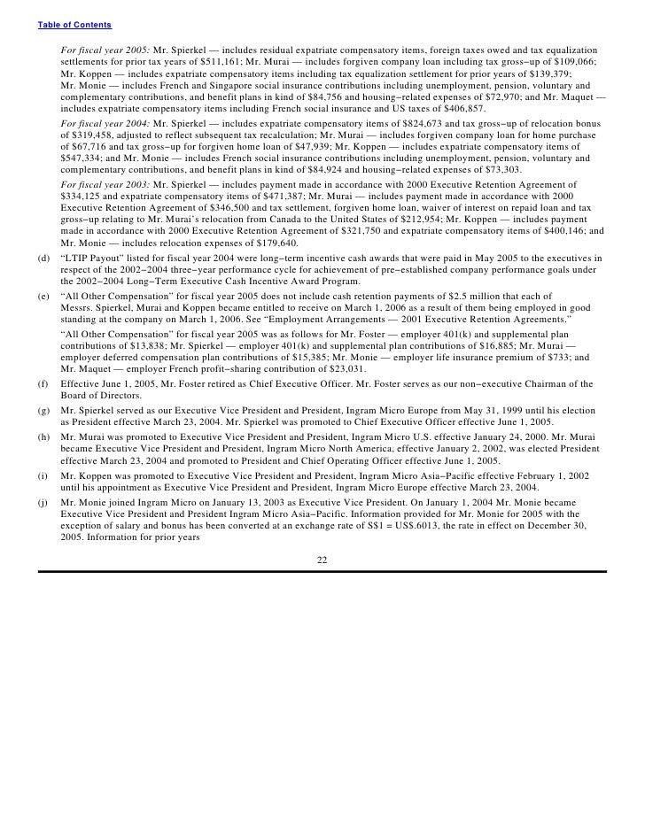 ingram micro Proxy Statement 2005