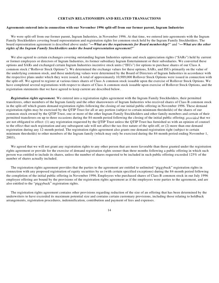 Ingram Micro Proxy Statement 2003