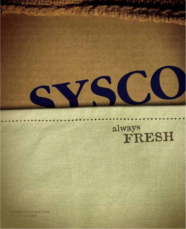 SYSCOSYSCO CORPORATIONCORPORATION Annual ReportAnnual Report 20072007
