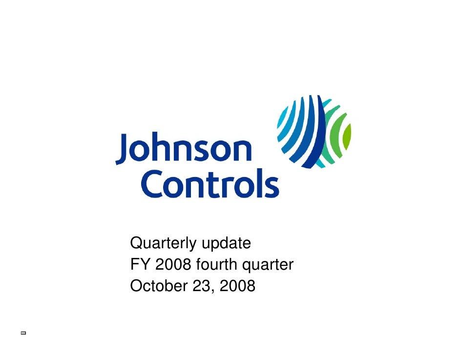 Quarterly update FY 2008 fourth quarter October 23 2008         23,