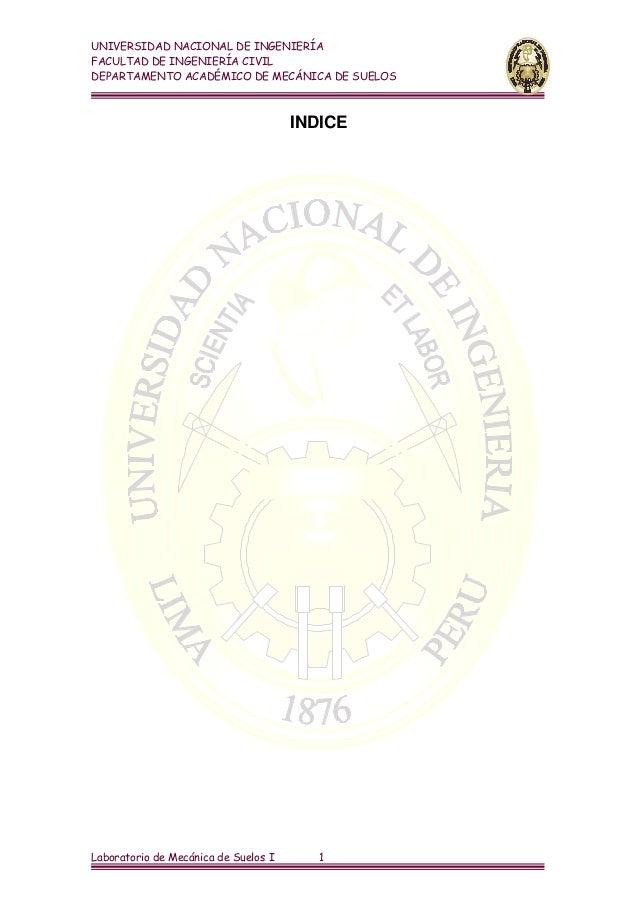 UNIVERSIDAD NACIONAL DE INGENIERÍAFACULTAD DE INGENIERÍA CIVILDEPARTAMENTO ACADÉMICO DE MECÁNICA DE SUELOS                ...