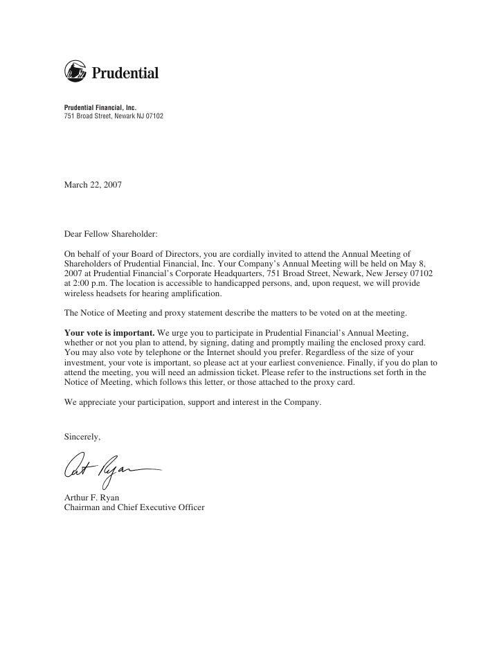 Prudential financial proxy statements 2007 altavistaventures Images