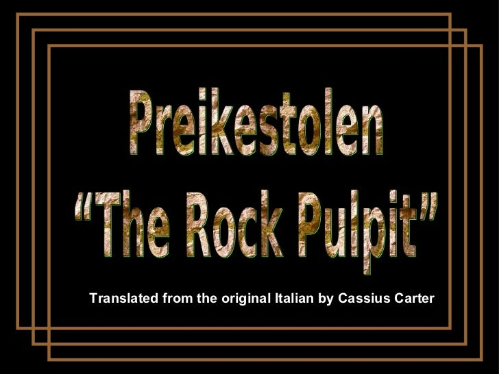 Translated from the original Italian by Cassius Carter