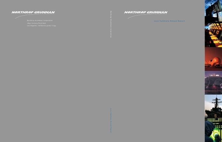 northrop grumman Annual Report 2001