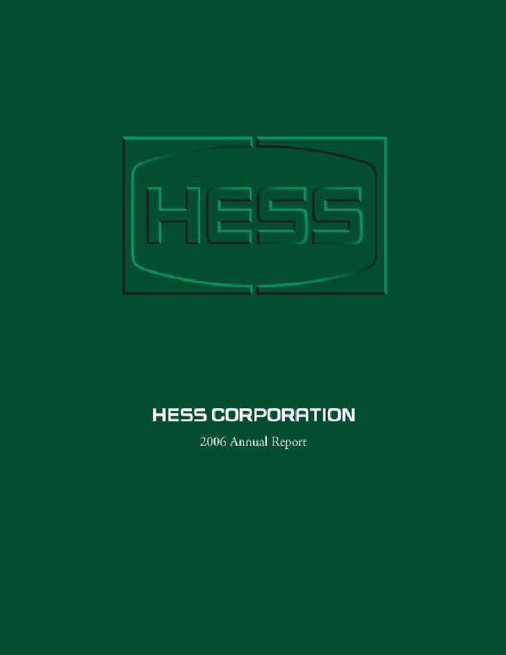 FINANCIAL AND OPERATING HIGHLIGHTS                                                  Hess Corporation and Consolidated Subs...