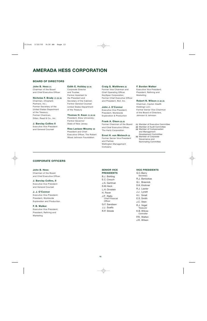 Hess annual reports 2004 organizations 11 14 buycottarizona Gallery