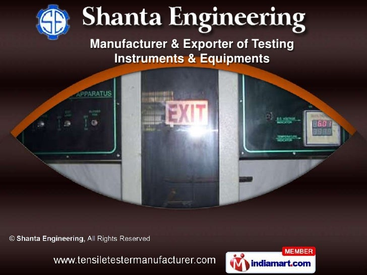 Manufacturer & Exporter of Testing   Instruments & Equipments