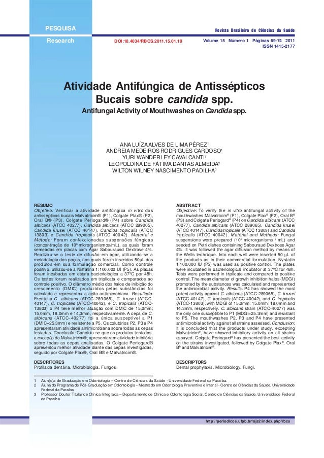 PESQUISA Research Volume 15 Número 1 Páginas 69-74 2011 ISSN 1415-2177 Revista Brasileira de Ciências da Saúde Atividade A...