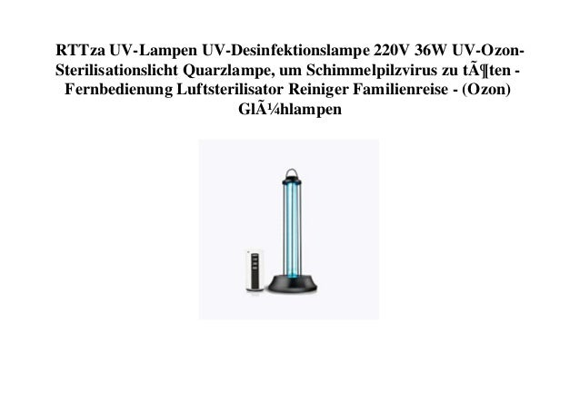 RTTza UV-Lampen UV-Desinfektionslampe 220V 36W UV-Ozon- Sterilisationslicht Quarzlampe, um Schimmelpilzvirus zu töten - Fe...