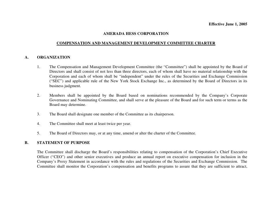 Effective June 1, 2005                                              AMERADA HESS CORPORATION                  COMPENSATION...