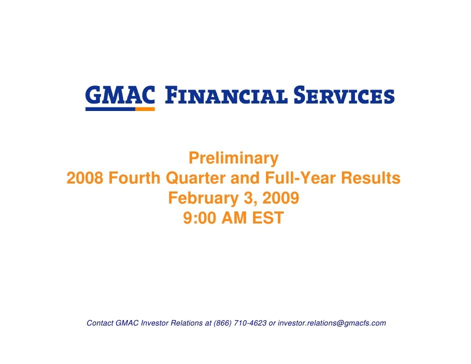 Preliminary 2008 Fourth Quarter and Full-Year Results             February 3, 2009               9:00 AM EST       Contact...