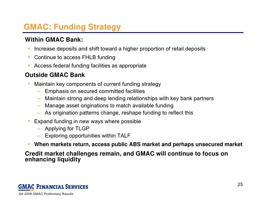 Robert Hull, GMAC Chief Financial Officer GMAC LLC 2008