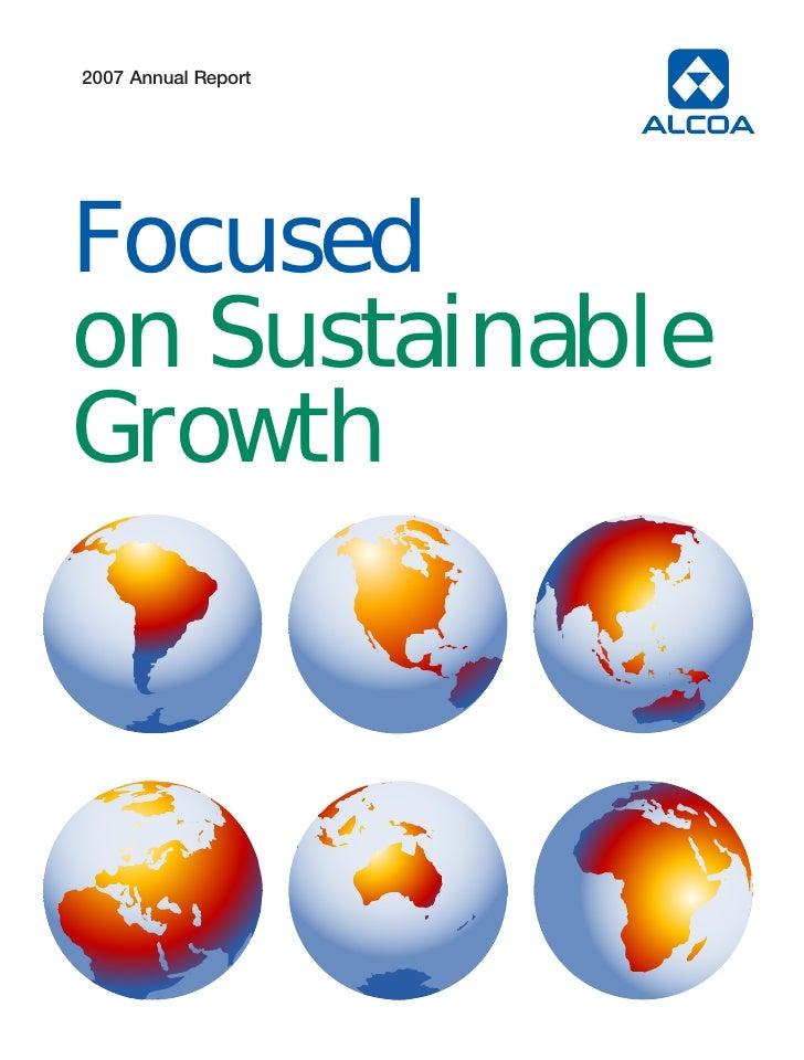 alcoa Annual Reports 2007