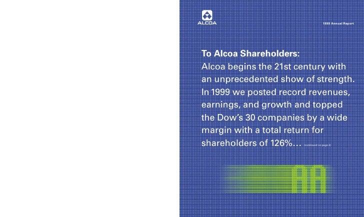 alcoa Annual Reports 1999