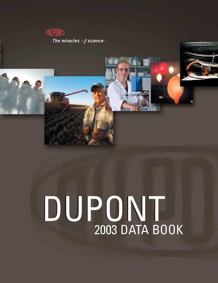 DUPONT   2003 DATA BOOK