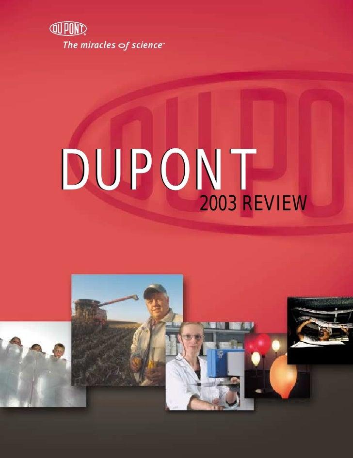 DUPONT     2003 REVIEW