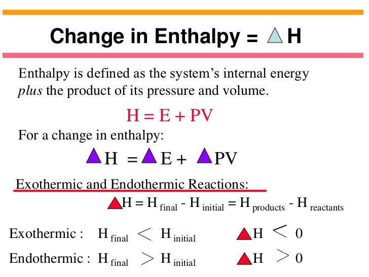 enthalpy lab There are many reactions for which the heat of reaction cannot be easily measured experimentally some of these are dangerous to perform in the lab.