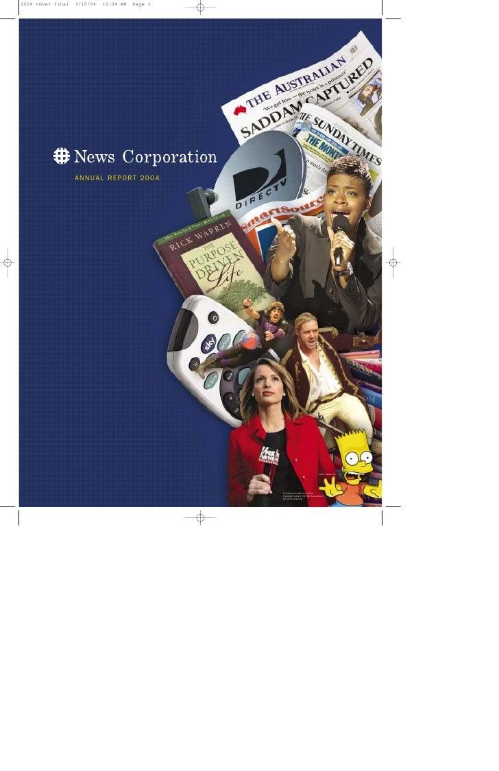 ANNUAL REPORT 2004                          The Simpsons TM and © 2004                      Twentieth Century Fox Film Cor...