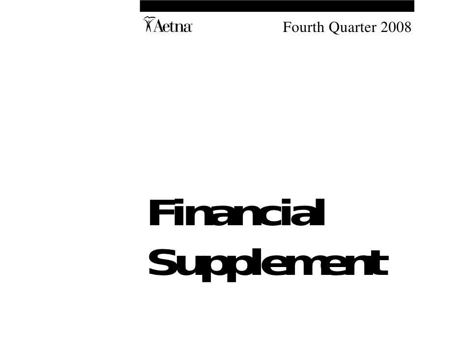A    Fourth Quarter 2008     Financial Supplement