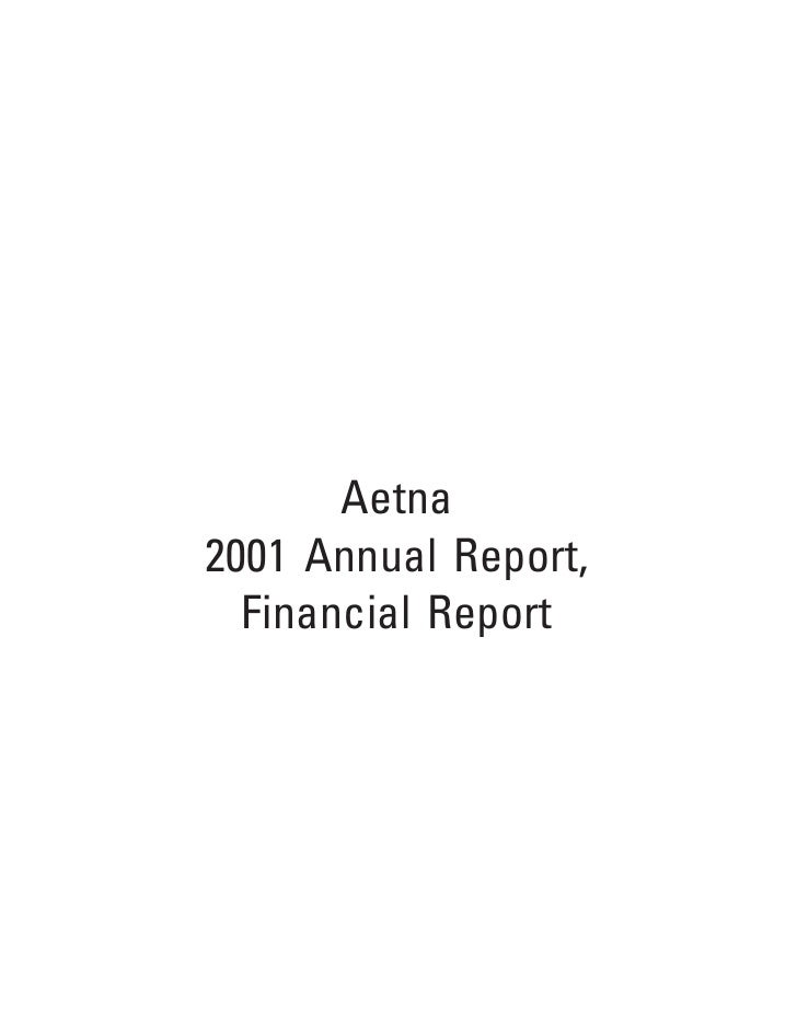 aetna 2001 Financial Annual Report
