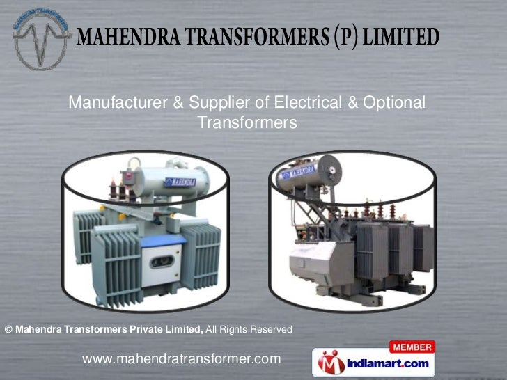 Manufacturer & Supplier of Electrical & Optional <br />Transformers<br />