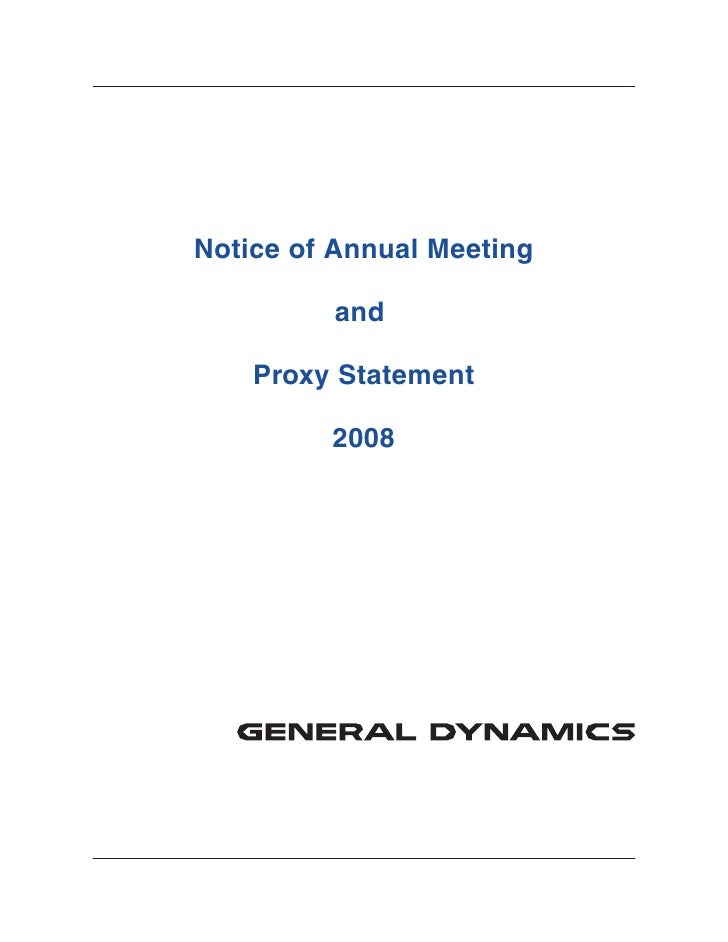 Notice of Annual Meeting           and      Proxy Statement           2008