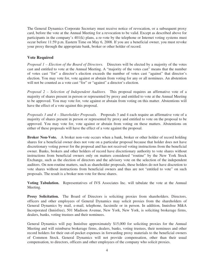 general dynamics 2008 Proxy Statement