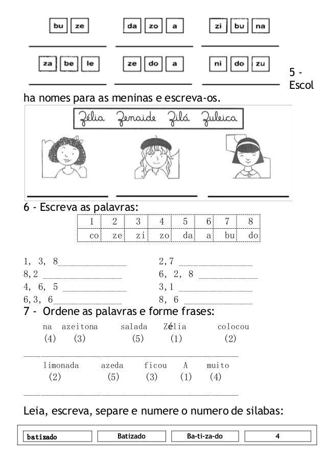 104742602 Apostila Com Atividades De Lingua Portuguesa 1º Ano Do Ensi