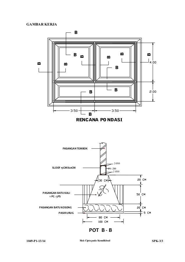 1049 p1-spk-teknik konstruksi batu dan beton Slide 3