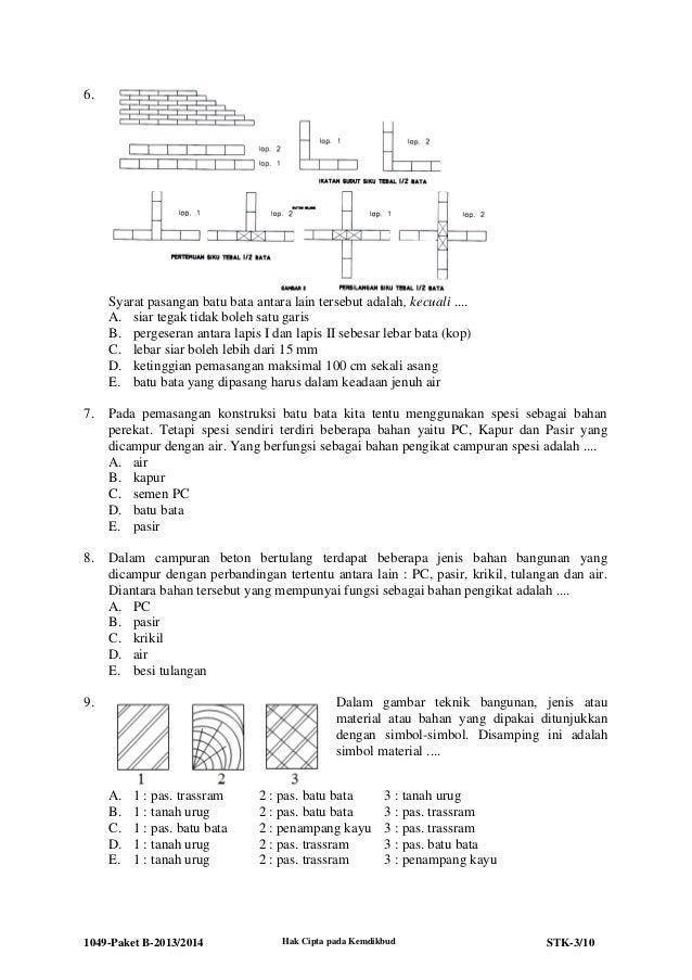 1049 stk-paket b-teknik konstruksi batu dan beton 2013-2014 Slide 3