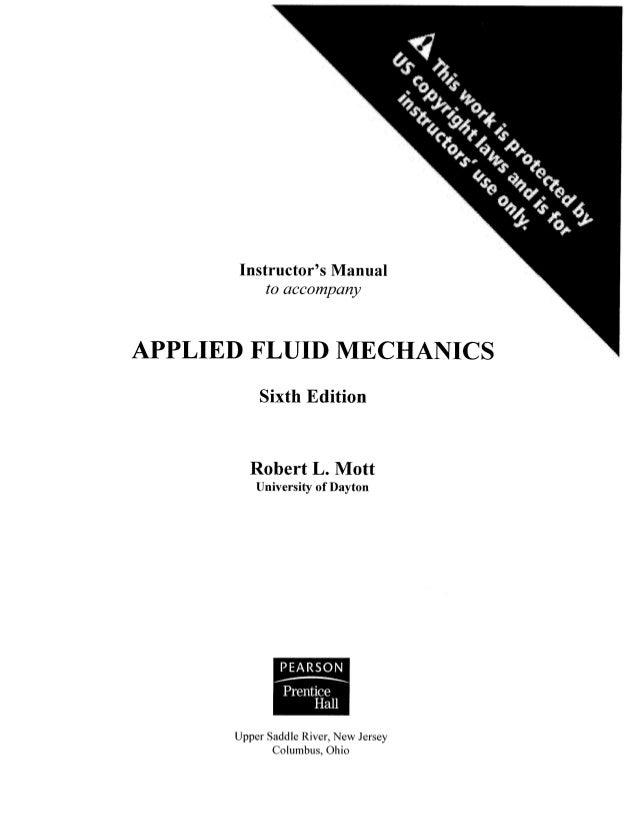Solucionario De Mecánica De Fluidos Aplicada Mott 6 Edición