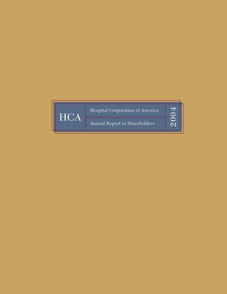 2004       Hospital Corporation of America HCA   Annual Report to Shareholders